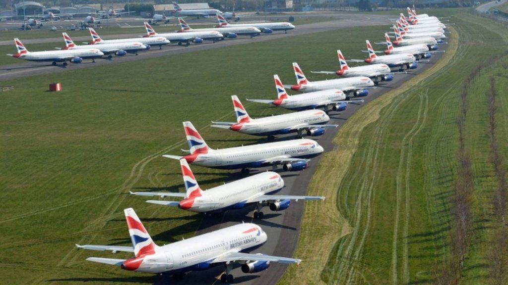 British Airways planes United Kingdom airports