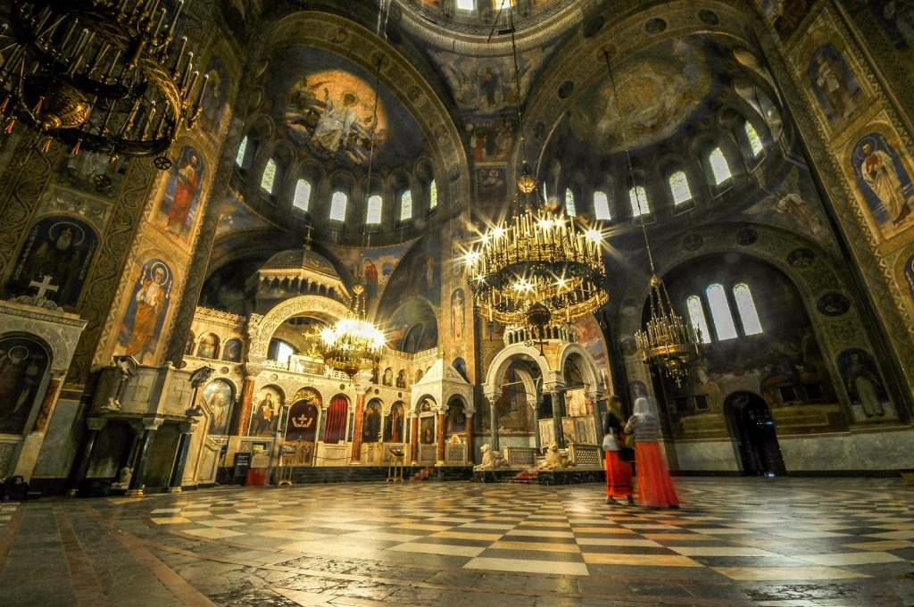 Alexander Nevsky Cathedral in Sofia Bulgaria