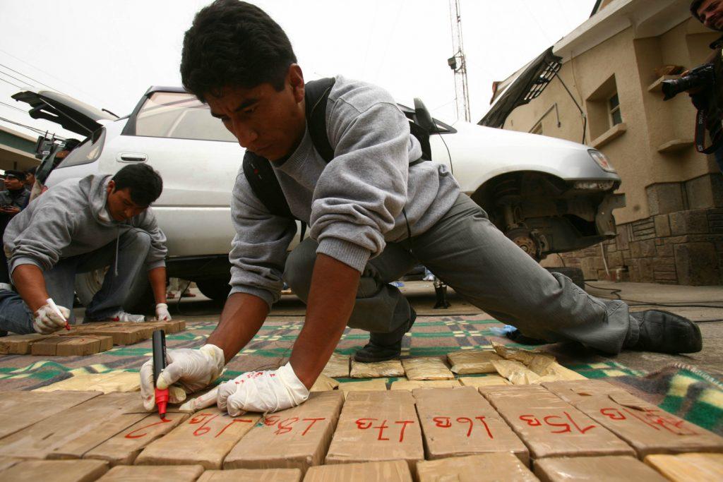 Cocaine seizure in Bolivia