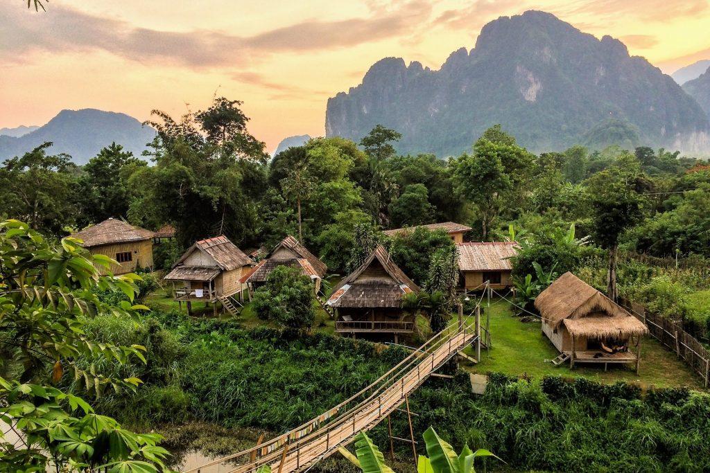 Laos countryside