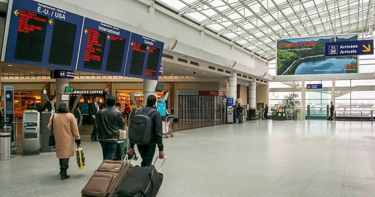 Terminal Montreal Airport Canada Quebec